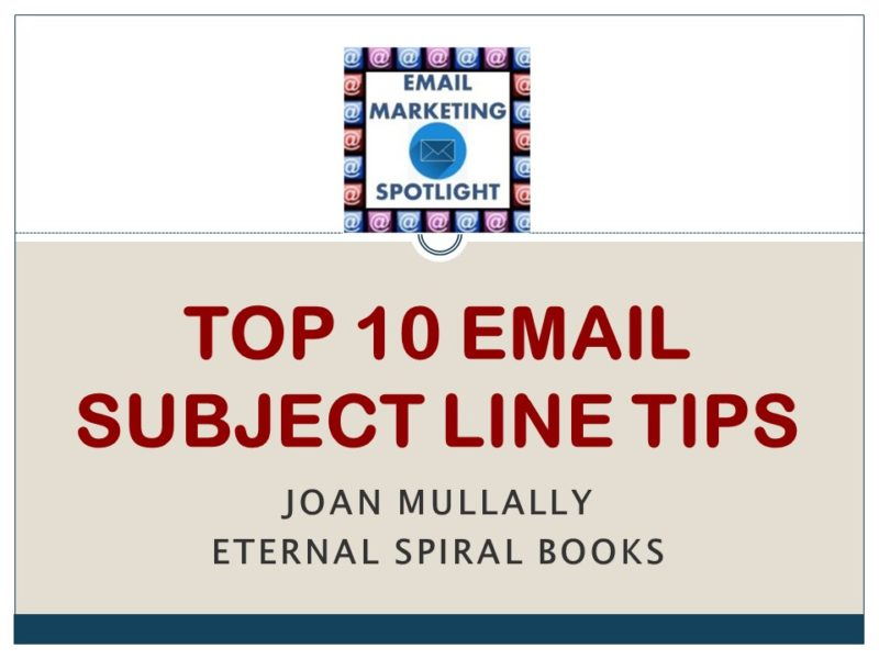 Top 10 Email Subject Line Tips