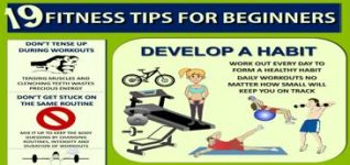 Healthy Infographic-19 Fitness Tips for Beginners