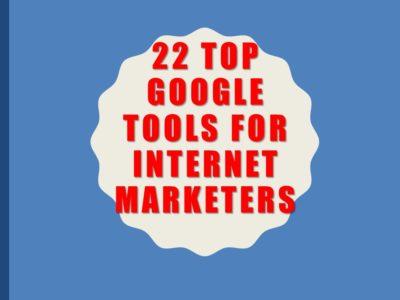 22 Google Tools Deck
