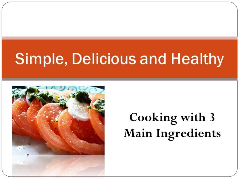 3 Main Ingredient Meals Deck