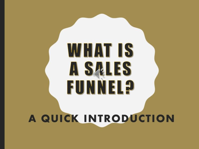 Sales Funnels Introduction Deck