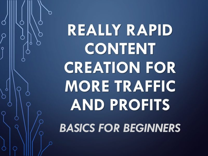 Really Rapid Content Creation Deck