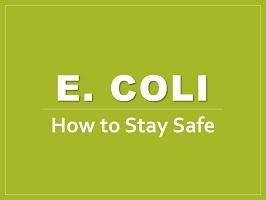E coli deck