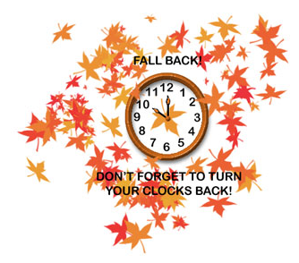 Daylight Savings ends today in the US; stay alert and well