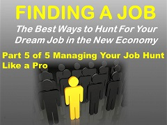 Finding a Job Presentation 5, Managing Your Time