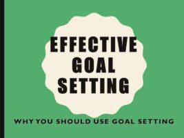 Effective Goal Setting Video