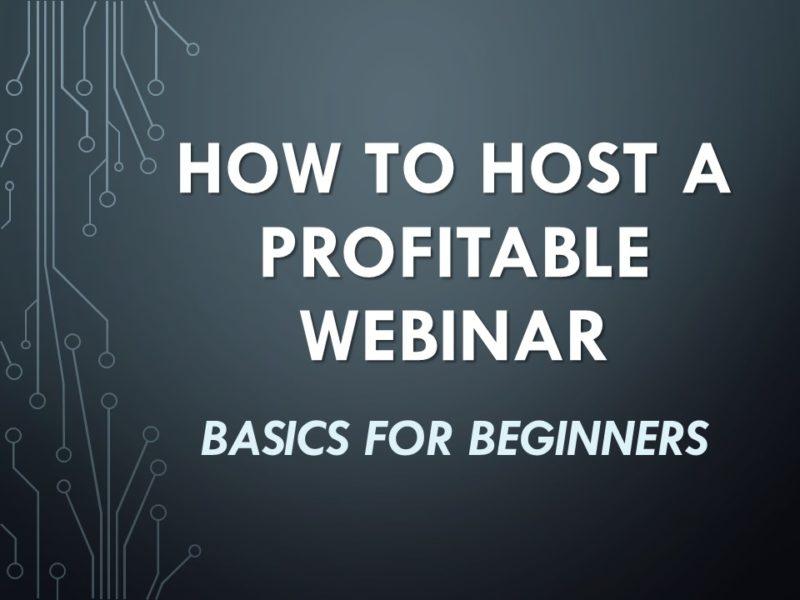 How to Host a Profitable Webinar Video