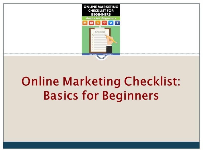 Online Marketing Checklist Video