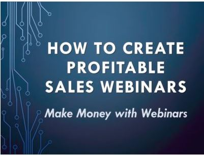 Profitable Sales Webinars Course