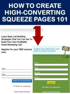 how to create a squeeze page