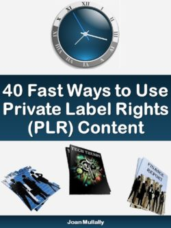 40 Ways to Use PLR