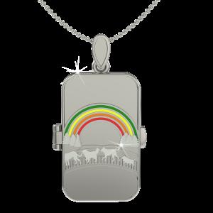 rainbow bridge locket front